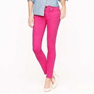 J. Crew Toothpick Ankle Jeans Hot Pink